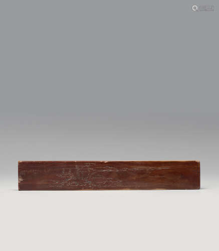 红木雕山水纹镇纸
