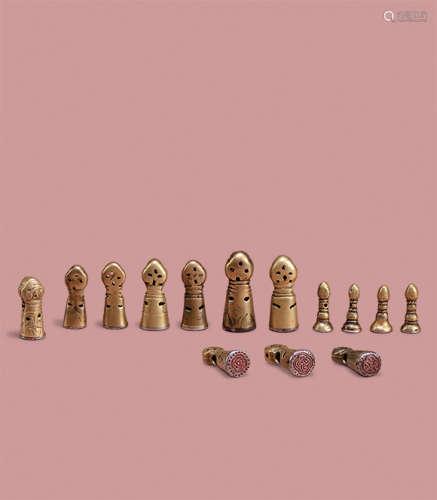 铜柄藏章一组(14个)