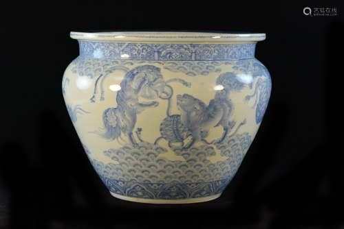 Japanese Arita Blue White Porcelain Planter