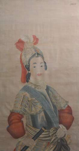 Chinese Painting of Female General