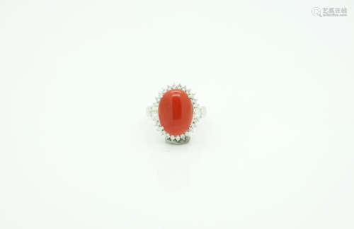 红珊瑚女戒