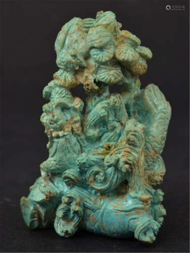 Chinese Turquoise Carved Sculpture