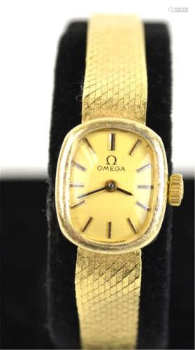 14K Omega Lady Wrist Watch