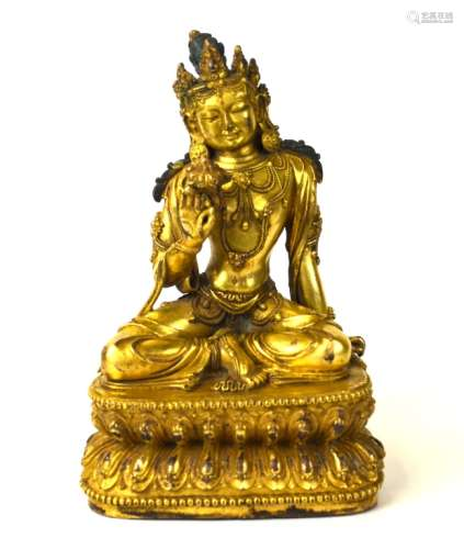 Fine Chinese Gilt Bronze Buddha Figure