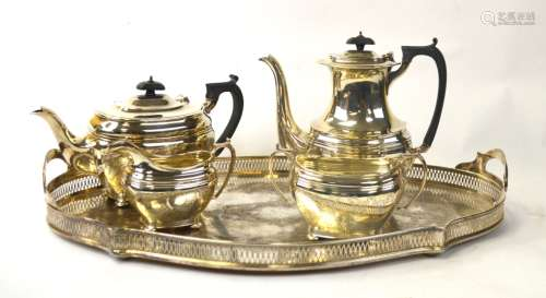 800 Silver Tea Set with Tray