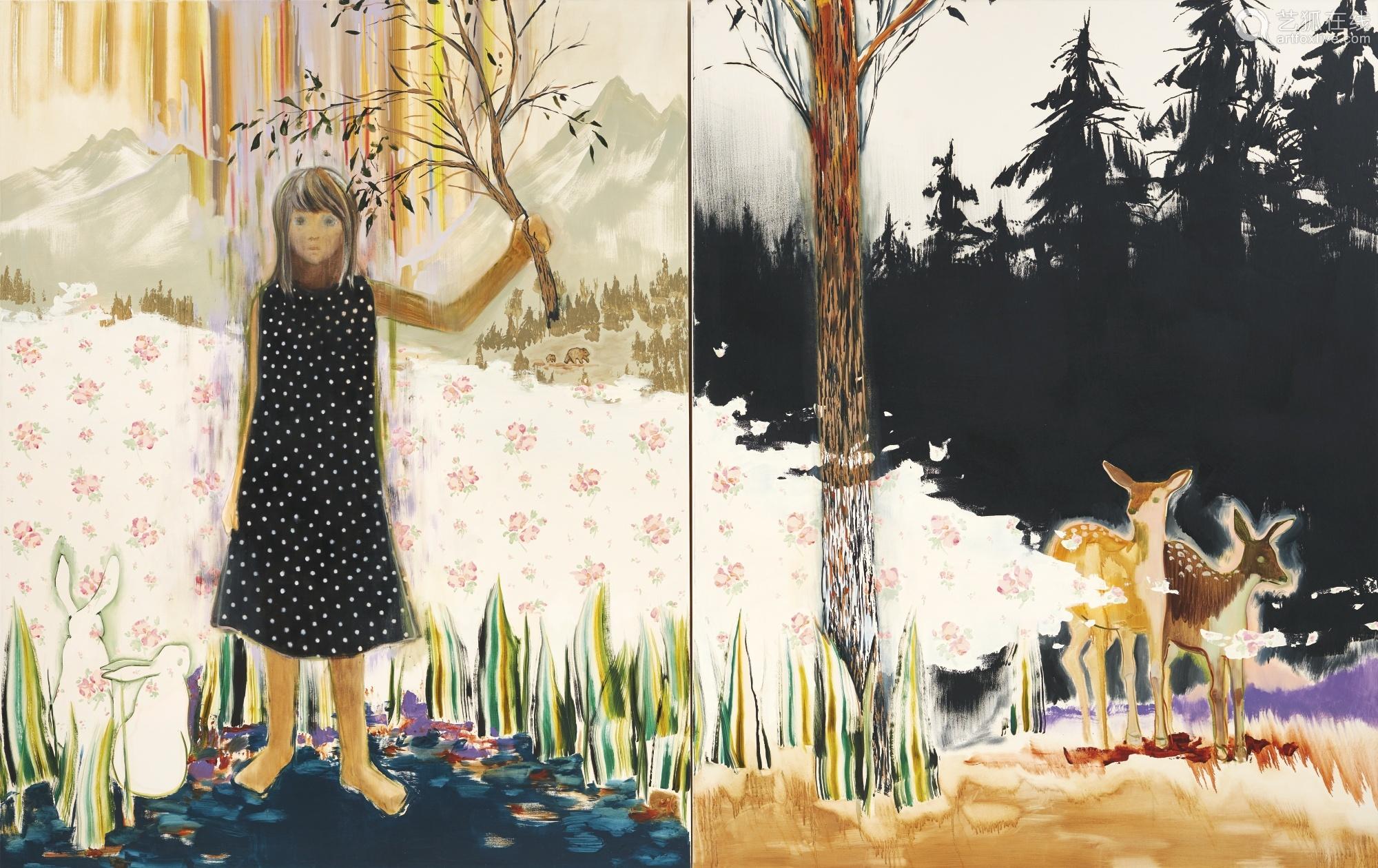 小泽沙加耶 二〇〇八年作 维加(双联作) 油画画布