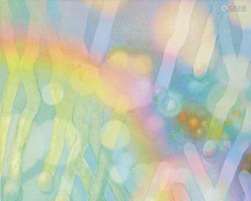 曾谷朝绘 二〇〇六年作 水滴 油画画布裱于木板