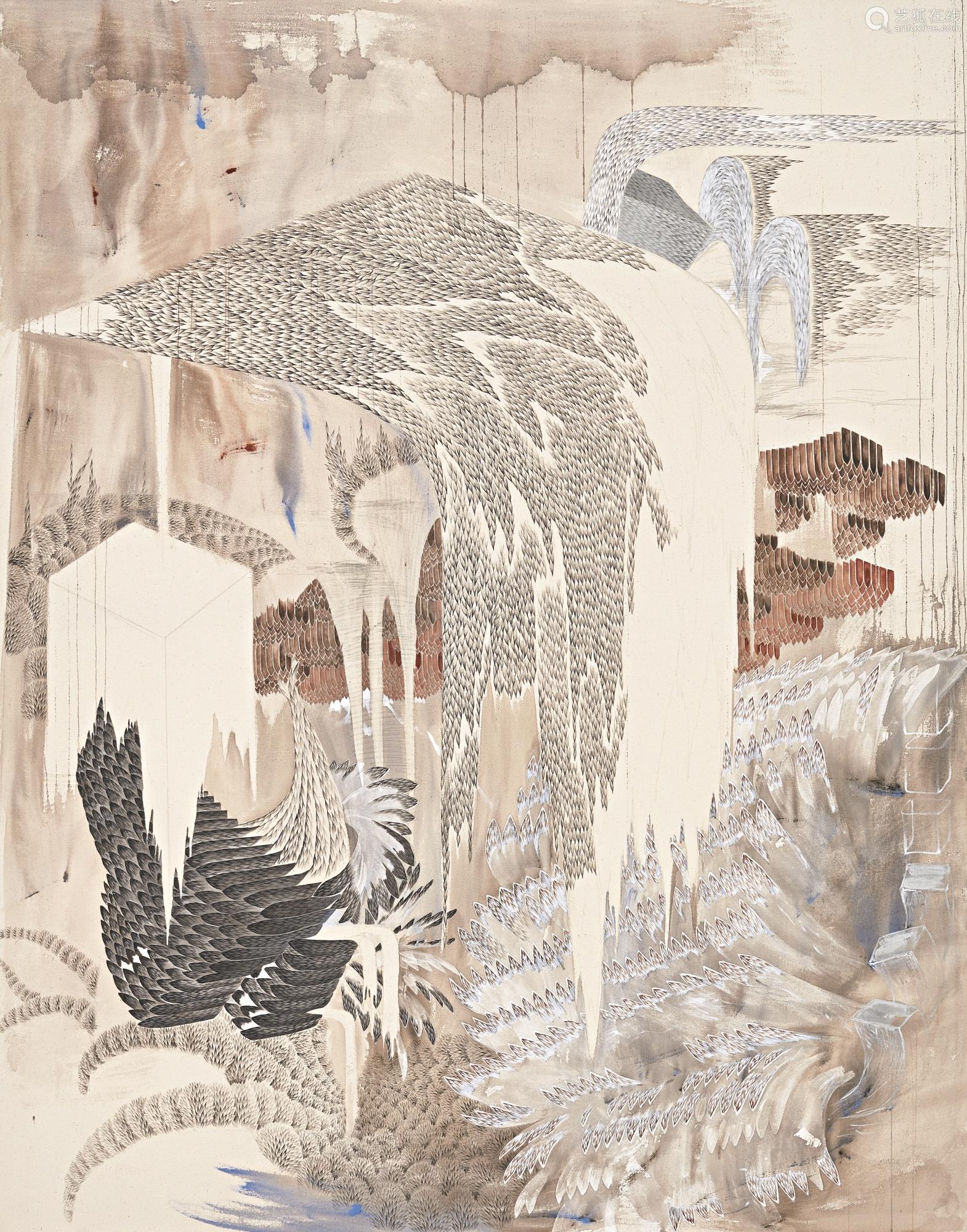 郑润庆 二〇一二年作 VOLUME II 压克力及铅笔画布