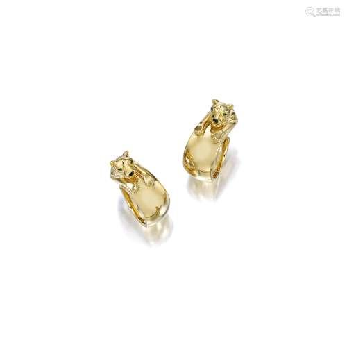 18K黄金「豹」耳环 卡地亚(Cartier) (一对)