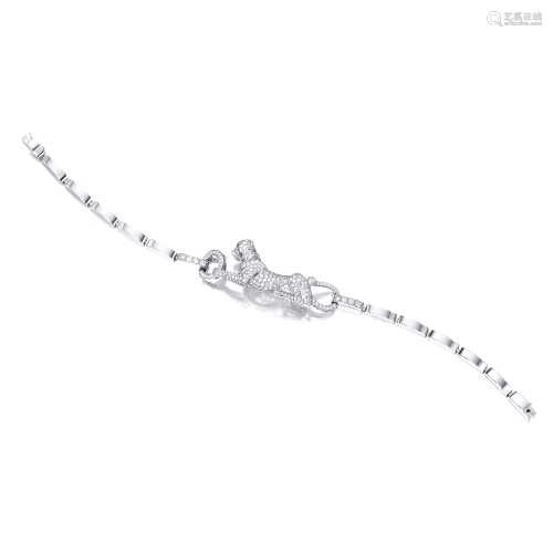 钻石配祖母绿及缟玛瑙「豹」手链 卡地亚(Cartier)