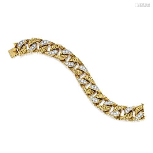 18K金配钻石手链