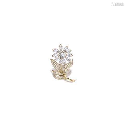 钻石「花」胸针 梵克雅宝(Van Cleef & Arpels)