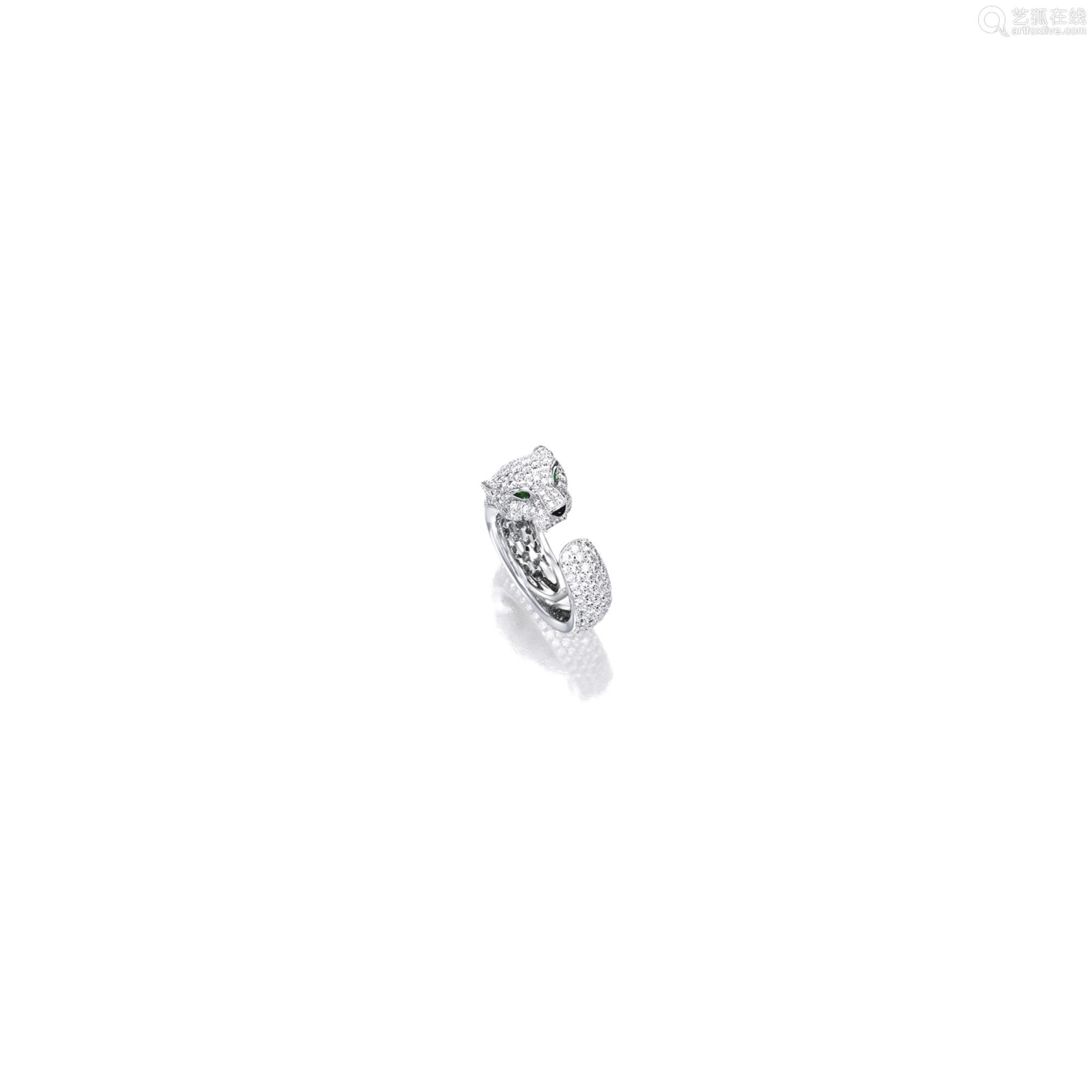 钻石配祖母绿及缟玛瑙「豹」戒指 卡地亚(Cartier)