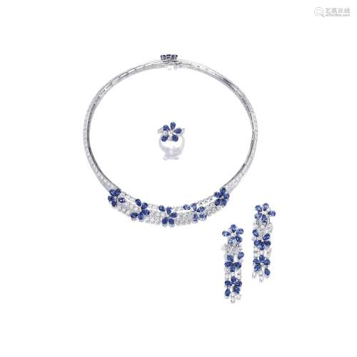 蓝宝石配钻石珠宝套装 梵克雅宝(Van Cleef & Arpels)