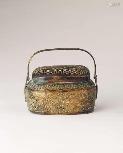 19世纪 铜暖手炉