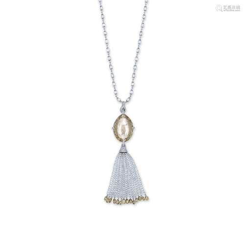 有色钻石及钻石吊坠项链G设计