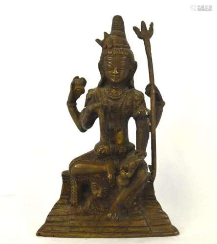 Indian Bronze Buddha Figure