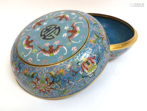 Yongzheng Cloisonne Lidded Container