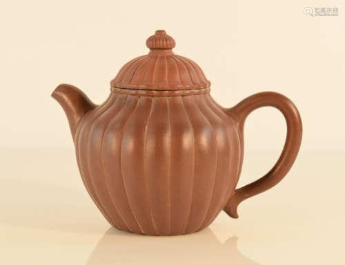 Chinese Yixin Teapot of Melon Shape