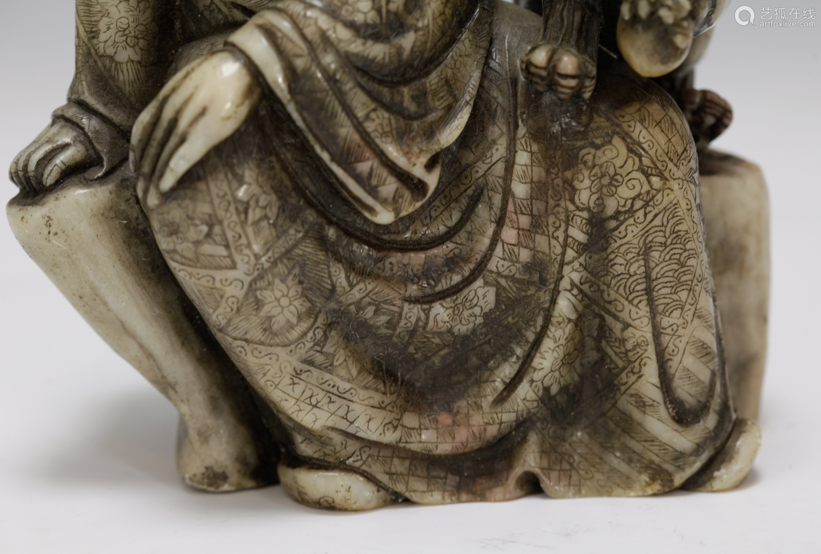 Chinese soapstone carving of louhan-【deal price picture】