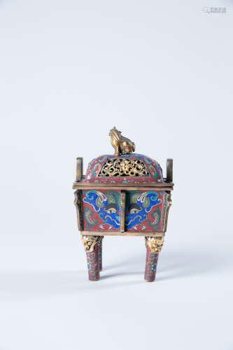 CHINESE CLOISONNE CENSER, 19TH CENTURY