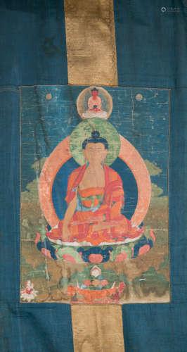 TIBETAN TANKA, POSSIBLY MING DYNASTY