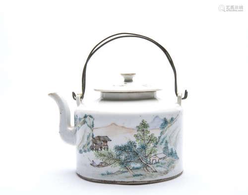 A Chinese Famille Rose Porcelain Tea Pot