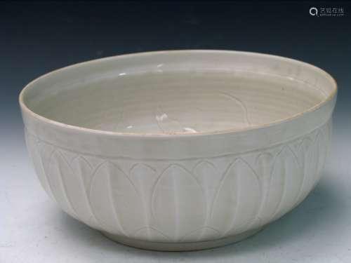 Big Chinese Ding Ware Porcelain Bowl