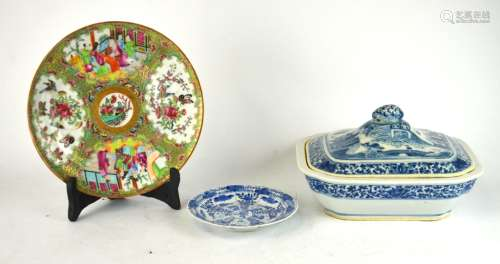 3 pcs Chinese Export porcelain plates