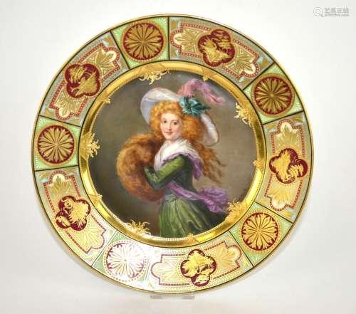 Viennna Porcelain Portrait Plate