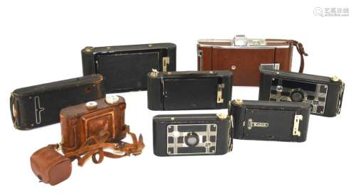 Group of Eight Vintage Cameras