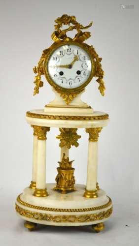 Tiffany &Co.  Bronze & Marble Clock