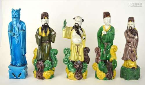 Five Chinese Porcelain Figural
