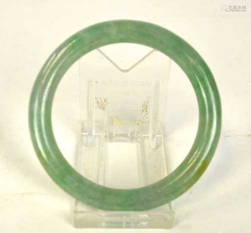 GIA Cert. Chinese Jadeite Bangle