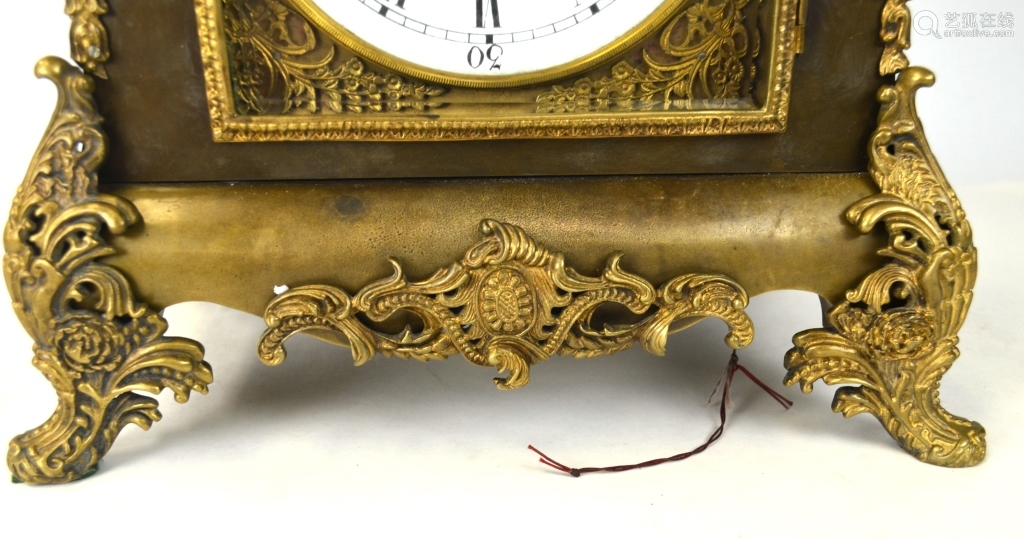 Rare Chinese Gilt Bronze Clock