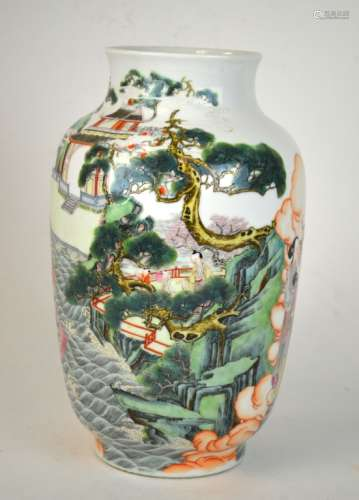 Yongzhen Imperial Chinese Famille Rose Vase