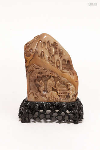Early 20th Chinese Antique Carved ShouShan Stone  民國 壽山石雕件