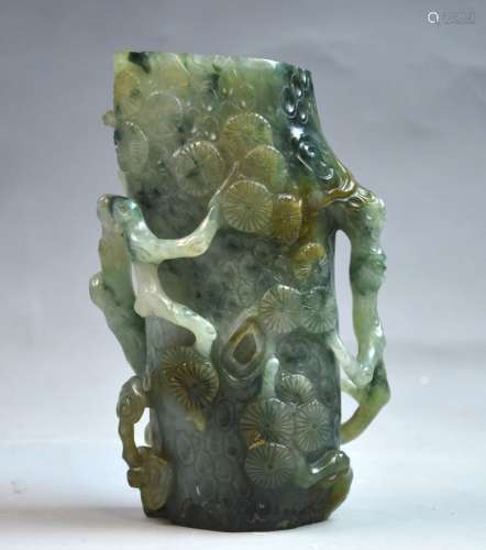 Chinese Carved Jadeite Cup