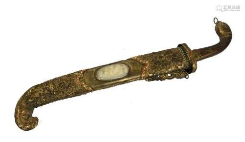 Massive Chinese Silver Dagger