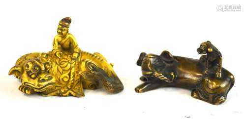 Two Chinese  Bronze Small Animals