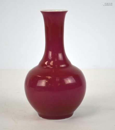 Chinese Ruby Red Glazed Vase