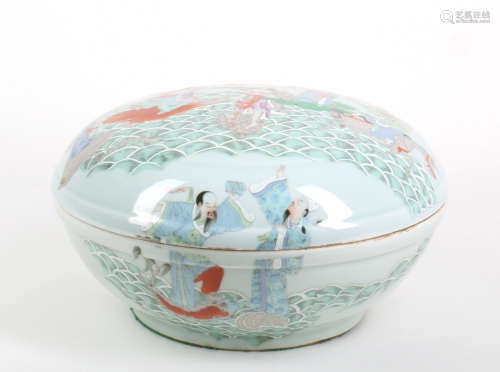 A Chinese Famille Rose Box
