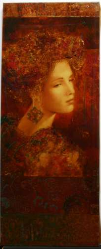 Csaba Markus, Constantina, Embellished Deluxe Limited Edition Serigraph on Canvas, signed by the artist. Size is 29