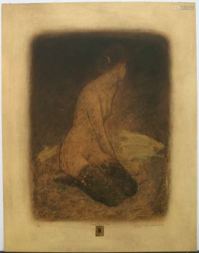 Roy Fairchild Woodard, Everything I See, Limited Edition Etching, signed by the artist, paper size is 28.75