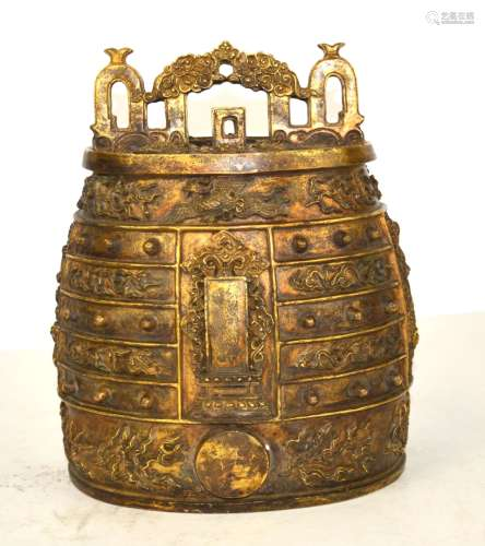 19/20th Cen. Chinese Bronze Ritual Bell