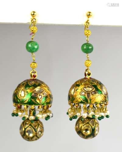 22K Gold  Pr Indian Earrings