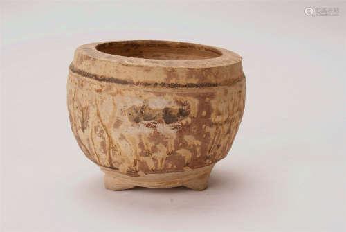 A Chinese Tripod Jar