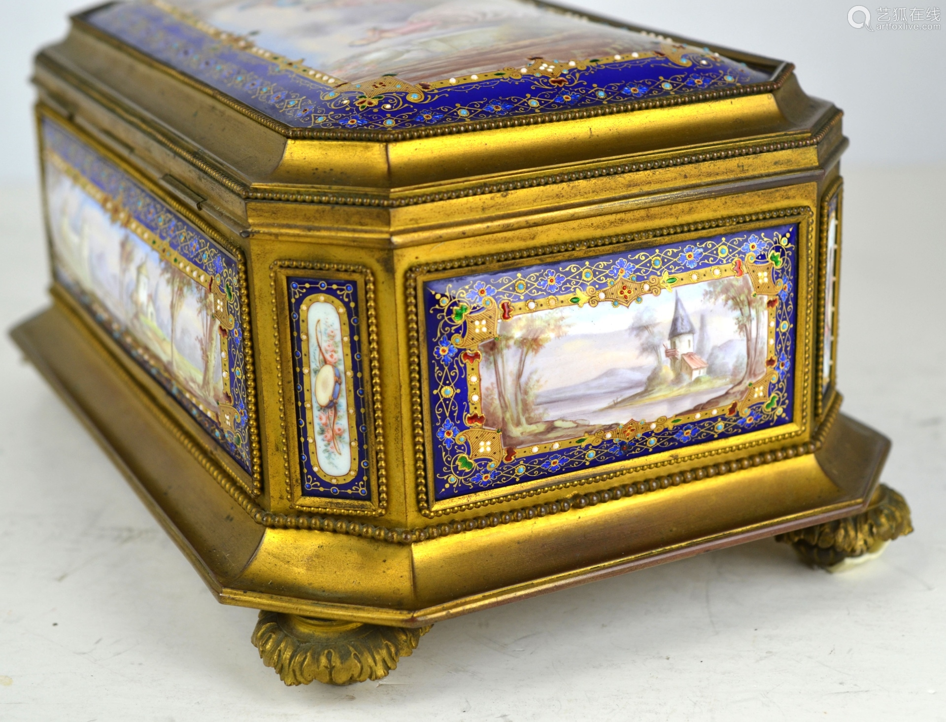 Sevres Enamel Jewelry Box