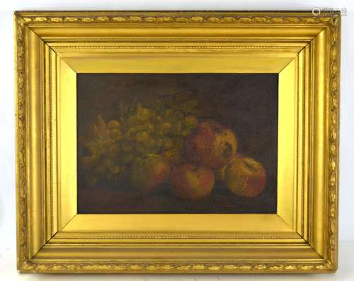 Framed Oil Painting with Fruit