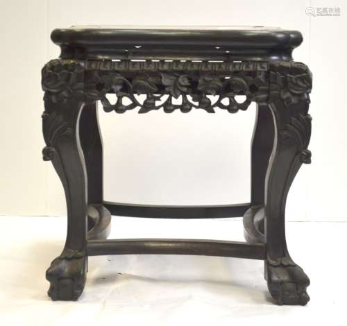 Chinese Stool with Marble Top